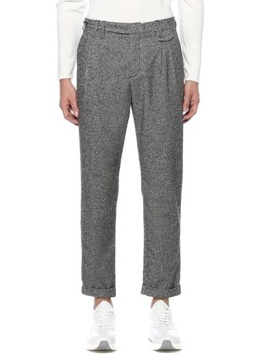 Beymen Collection Beymen Collection   Mikro Desenli Çift Pilili Pantolon 101520904 Siyah